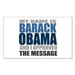 The Message Rectangle Sticker