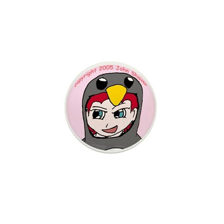 Lisa the Angry Penguin Mini Button (10 pack)