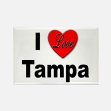 I Love Tampa Rectangle Magnet