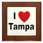 I Love Tampa Framed Tile