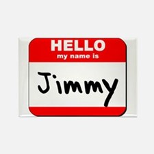 Hello my name is Jimmy Rectangle Magnet