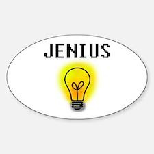 'Jenius' Oval Decal