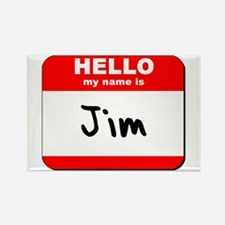 Hello my name is Jim Rectangle Magnet