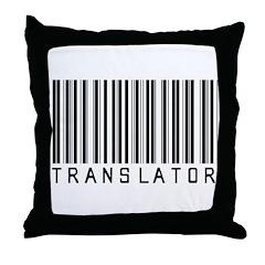 Translator Barcode Throw Pillow