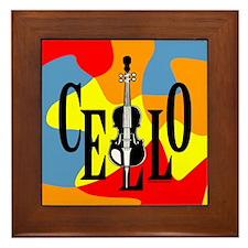 Cello In Cello Framed Tile