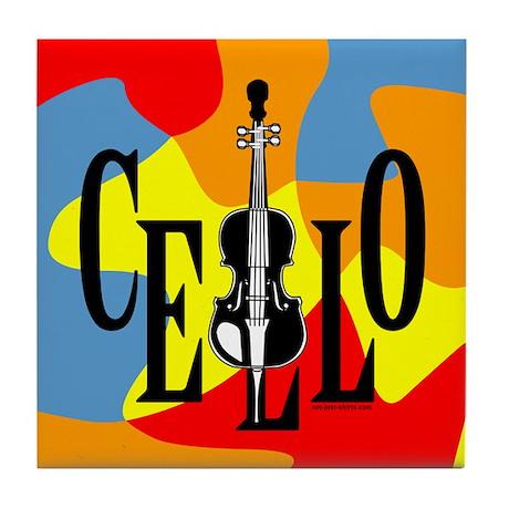 Cello In Cello Tile Coaster