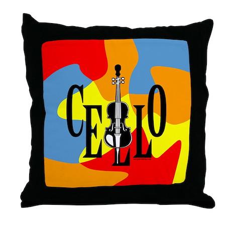 Cello In Cello Throw Pillow