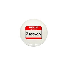 Hello my name is Jessica Mini Button (10 pack)