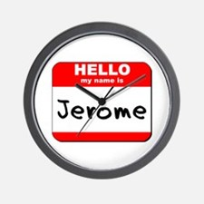 Hello my name is Jerome Wall Clock