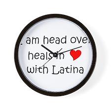 Cute I am latina Wall Clock