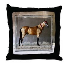 Akhal-Teke Horse Throw Pillow