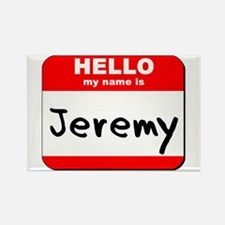 Hello my name is Jeremy Rectangle Magnet