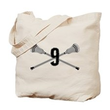Lacrosse Number 12 Tote Bag