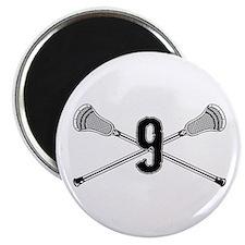 Lacrosse Number 12 Magnet