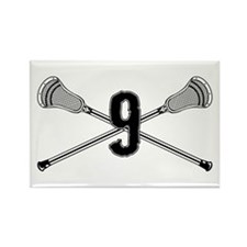 Lacrosse Number 12 Rectangle Magnet