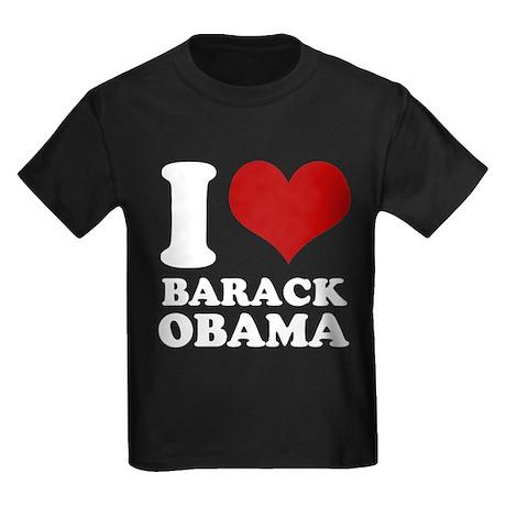 I love Barack Obama (clean) Kids Dark T-Shirt