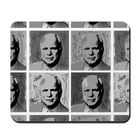 Black & white McCain Mousepad
