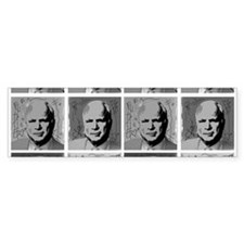 Black & white McCain Bumper Bumper Sticker