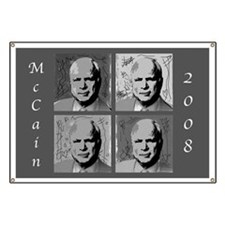 Black & white McCain Banner