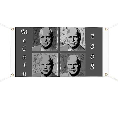 Black & white McCain Banner