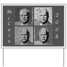 Black & white McCain Yard Sign