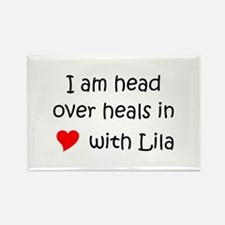 Cute Lila Rectangle Magnet