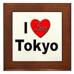 I Love Tokyo Framed Tile