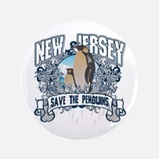 """Save the Penguins New Jersey 3.5"""" Button"""