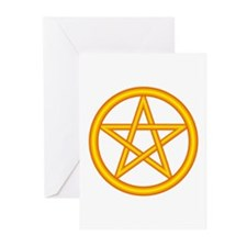 Fire Element Pentagram Greeting Cards (Package of