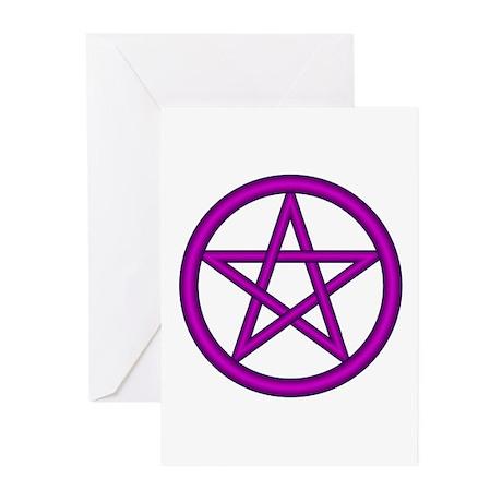 Purple Plum Pentagram Greeting Cards(Pk of 10)
