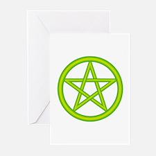 Earth Element Pentagram Greeting Cards (Package of