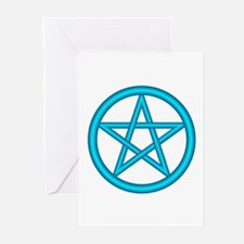 Water Element Pentagram Greeting Cards (Package of