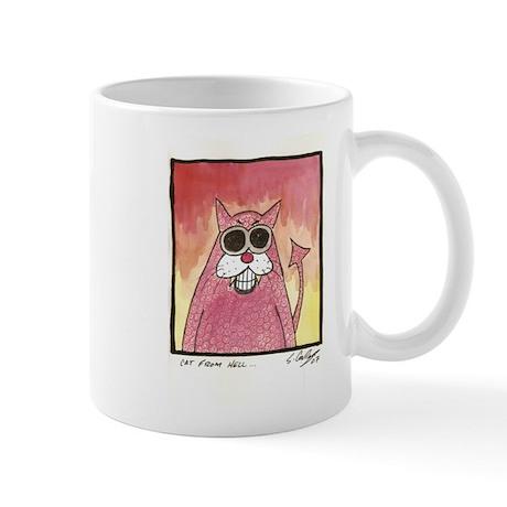 Cat from hell Mug