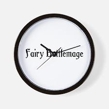 Fairy Battlemage Wall Clock