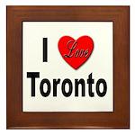 I Love Toronto Framed Tile