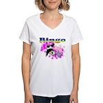 Bingo Panda Spores Women's V-Neck T-Shirt