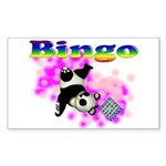 Bingo Panda Spores Rectangle Sticker