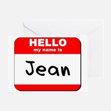 Hello my name is Jean Greeting Card