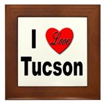 I Love Tucson Arizona Framed Tile