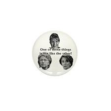 Palin, Hillary & Pelosi Mini Button (10 pack)