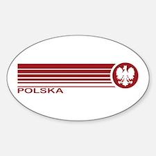 Polska Oval Sticker (10 pk)