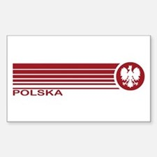Polska Rectangle Decal