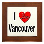 I Love Vancouver Framed Tile