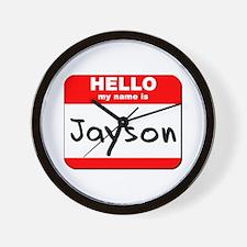 Hello my name is Jayson Wall Clock