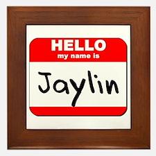 Hello my name is Jaylin Framed Tile