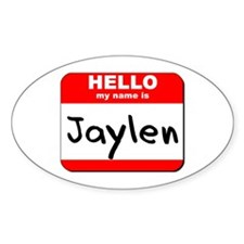 Hello my name is Jaylen Oval Decal