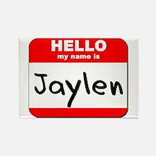 Hello my name is Jaylen Rectangle Magnet