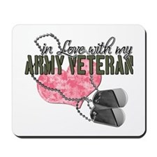 In Love with my Army Veteran Mousepad