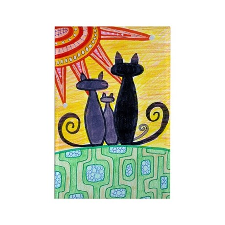 Sunrise Cats Rectangle Magnet