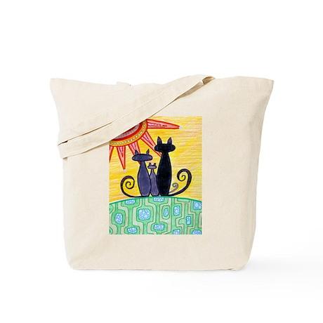 Sunrise Cats Tote Bag